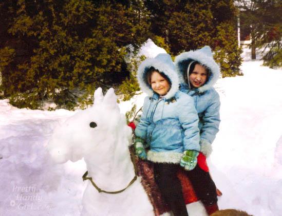 Snow Horse   Pretty Handy Girl