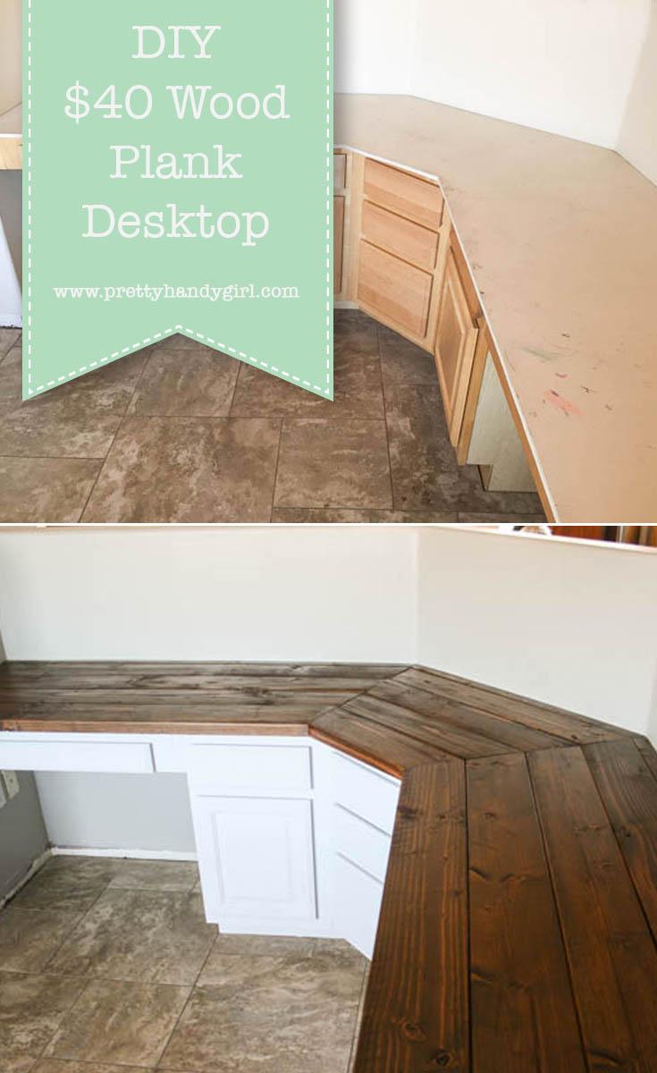 Build a Wood Plank Desktop