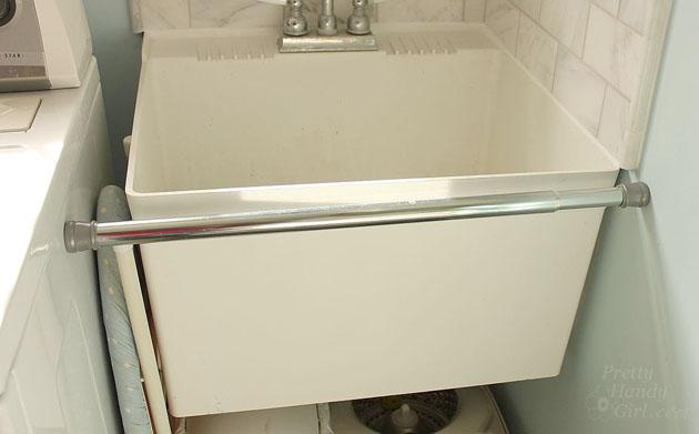 Ordinaire Laundry Room Sink Skirt | Pretty Handy Girl