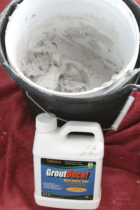 mix grout with grout once sealant in ice bucket