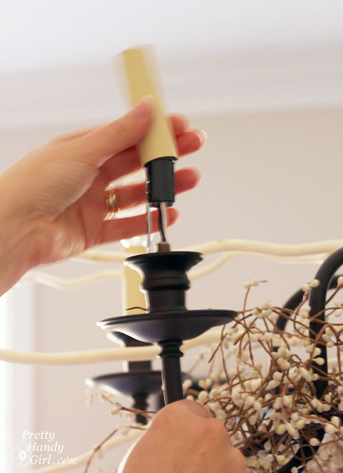 Painted Chandelier Sleeves | Pretty Handy Girl