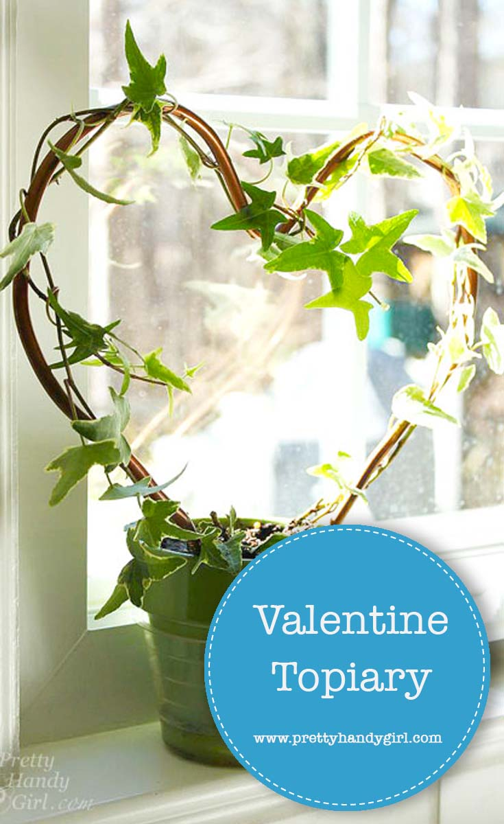 Check out this tutorial from Pretty Handy Girl and see how easy it is to create a heart shaped topiary. Keep it for yourself or give it to the one you love.   Non-candy Valentine's Day gifts   #prettyhandygirl #Valentinesday #DIYtopiary #plant