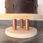 Wood & Copper Cake Stand