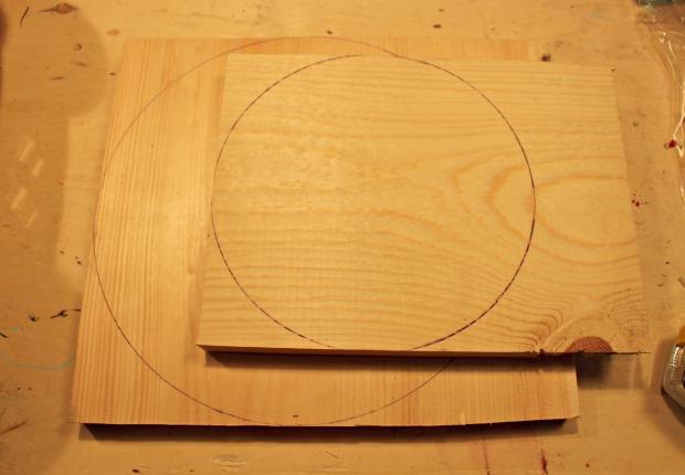 wood cake stand step 2