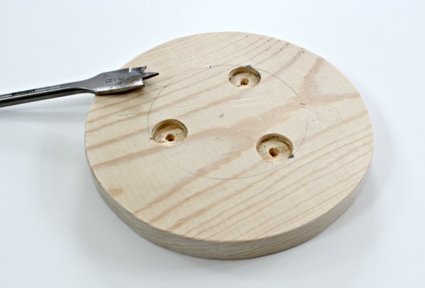 wood cake stand step 3