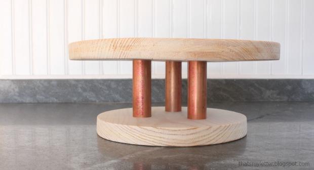 wood cake stand step 6