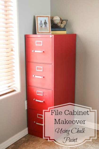 painting a metal file cabinet file cabinet makeover using chalk paint pretty handy 24406