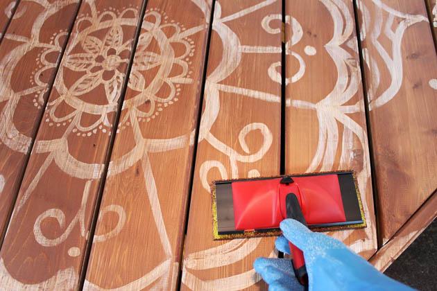 How to Paint a Deck Mandala Tattoo   Pretty Handy Girl