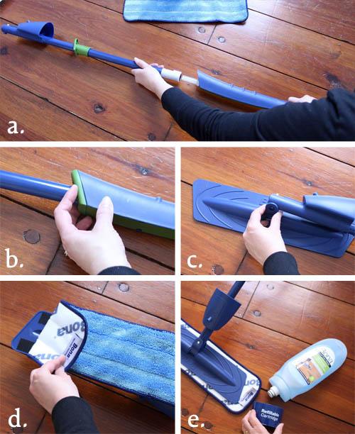 How to Assembler a Bona Hardwood Floor Cleaner Mop   Pretty Handy Girl