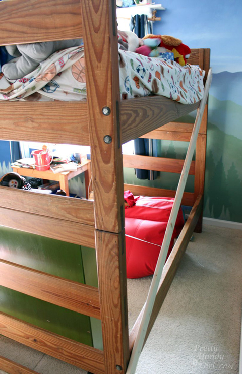 Stunning How to Turn a Bunk Bed into a Loft Bed Pretty Handy Girl