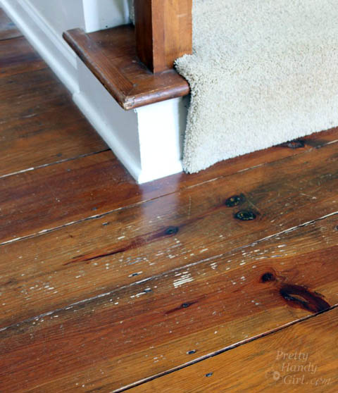 How to Refinish Wood Floors without Sanding | Pretty Handy Girl