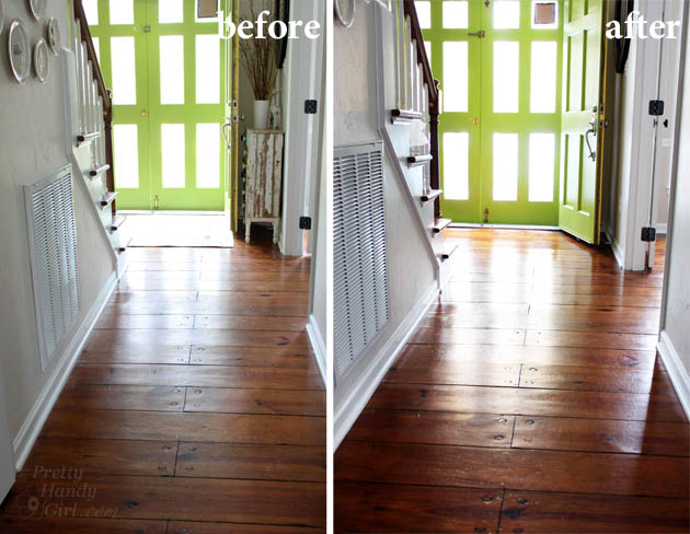 How to refinish wood floors without sanding pretty handy for Hardwood floors dull after cleaning
