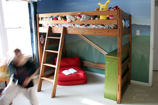 Lovely How to Turn a Bunk Bed into a Loft Bed Pretty Handy Girl