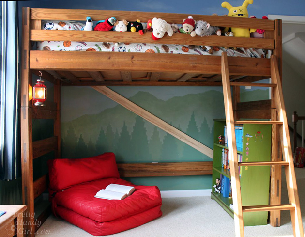 Ideal How to Turn a Bunk Bed into a Loft Bed Pretty Handy Girl