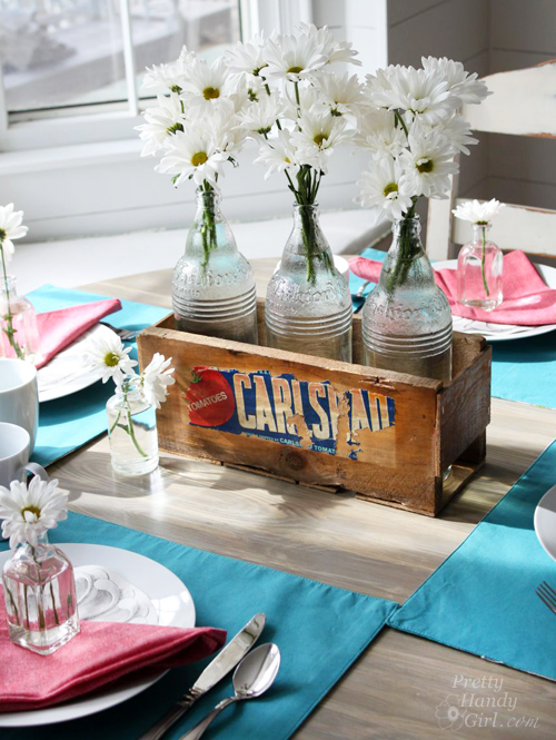 Build a Vintage Produce Crate Centerpiece