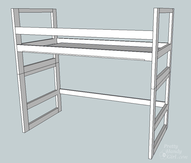 how to draw a bunk bed step by step