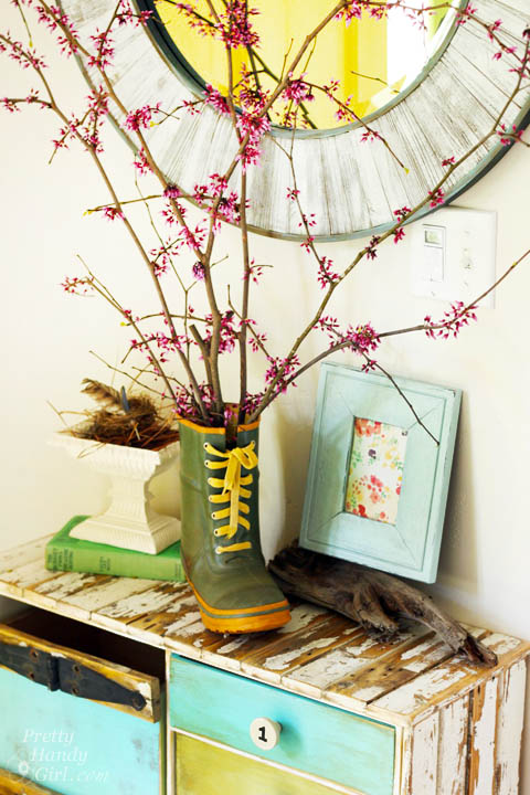 Spring Foyer Vignette | Pretty Handy Girl