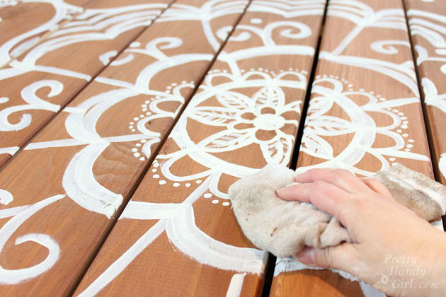 How to Paint a Deck Mandala Tattoo | Pretty Handy Girl