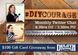 #DIYCourage Twitter Chat Every First Monday of the Month