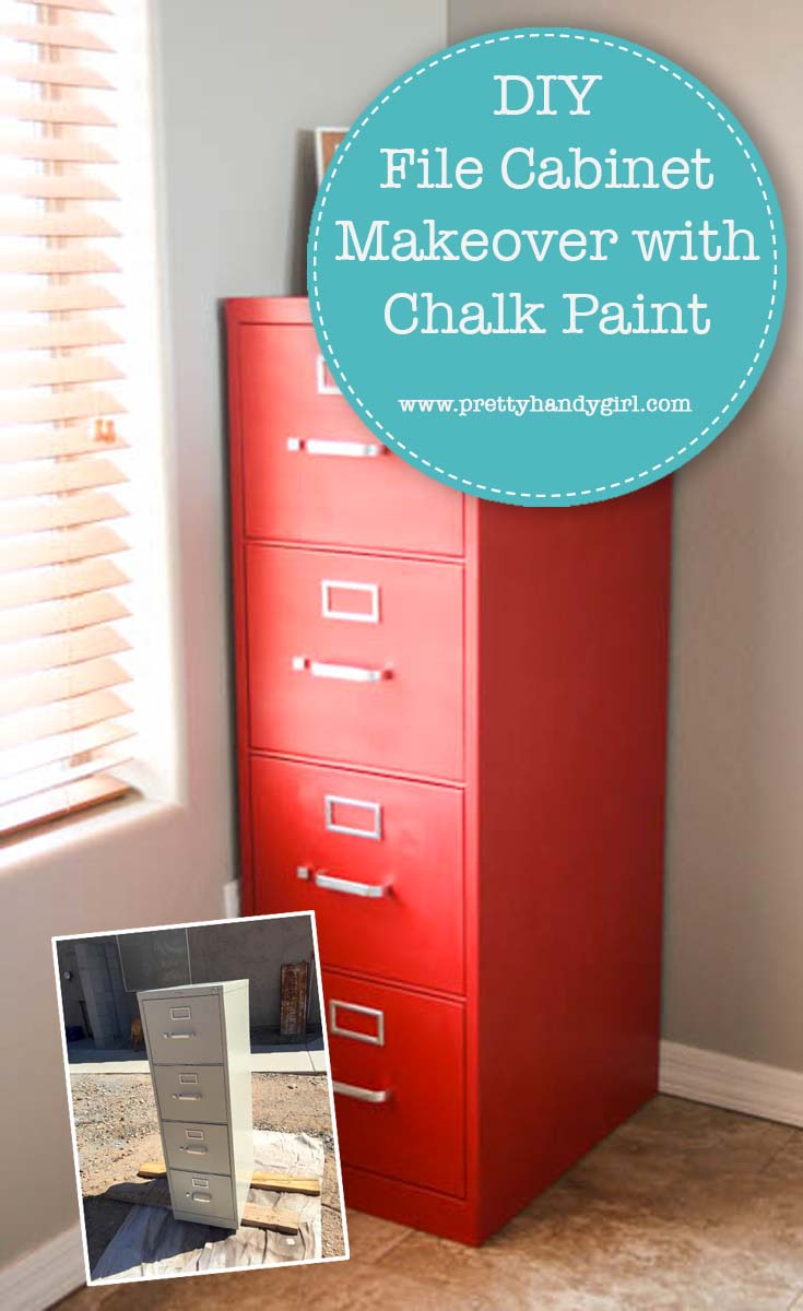 DIY File Cabinet Makeover with Chalk Paint   Pretty Handy Girl