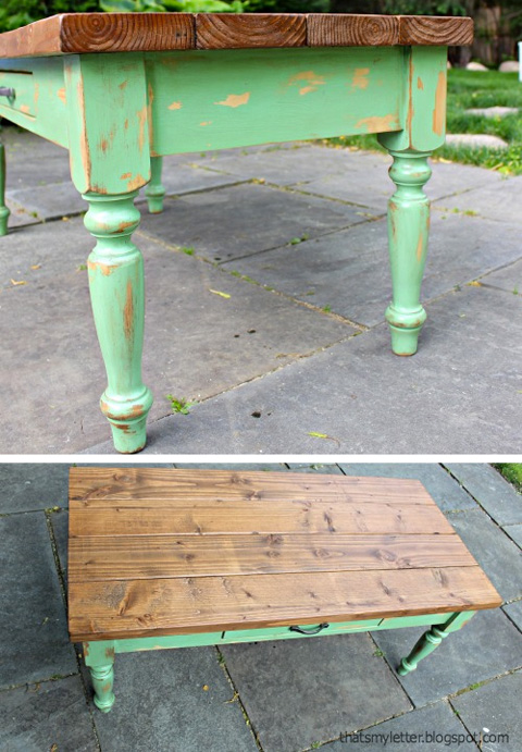 2x6 Lumber Table by That's My Letter