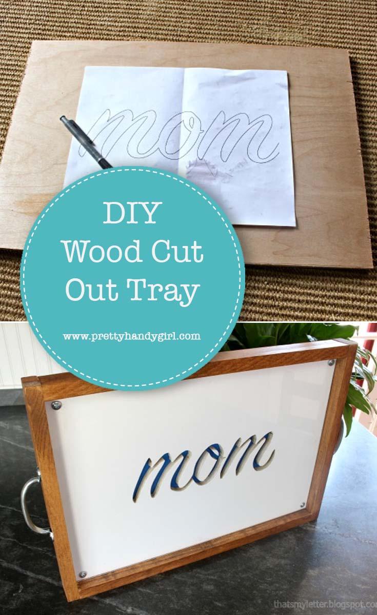 DIY Wood Tray with Cutout | Pretty Handy Girl