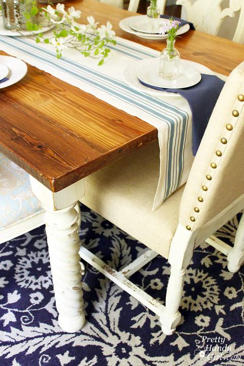 Reclaimed Lumber Farmhouse Table   Pretty Handy Girl