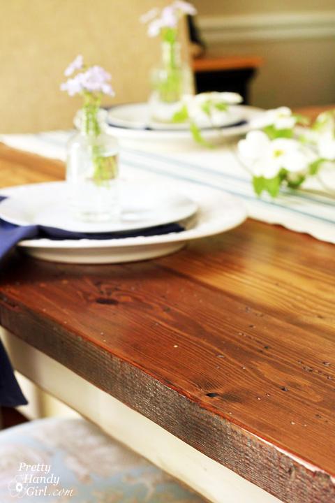 Reclaimed Lumber Farmhouse Table | Pretty Handy Girl