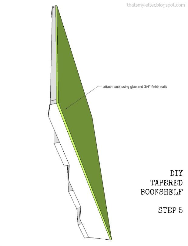 bookshelf tapered step 5 plans