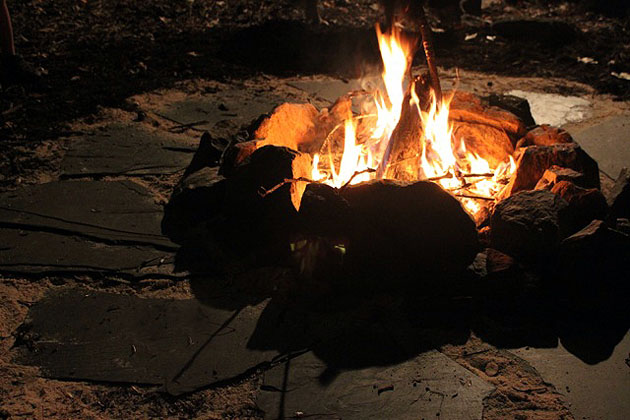 DIY Firepit and Seating | Pretty Handy Girl