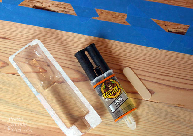 How to Fill Holes and Knots in Wood | Pretty Handy Girl