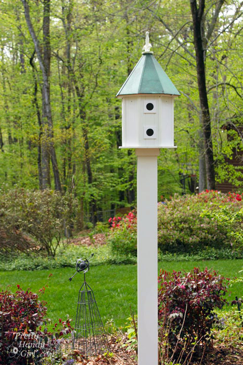 How to install a birdhouse on a post for Different types of birdhouses