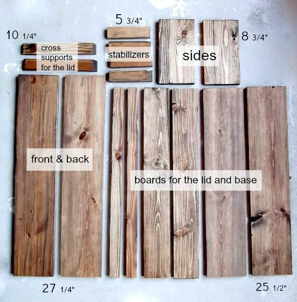 cut list wood ammo box
