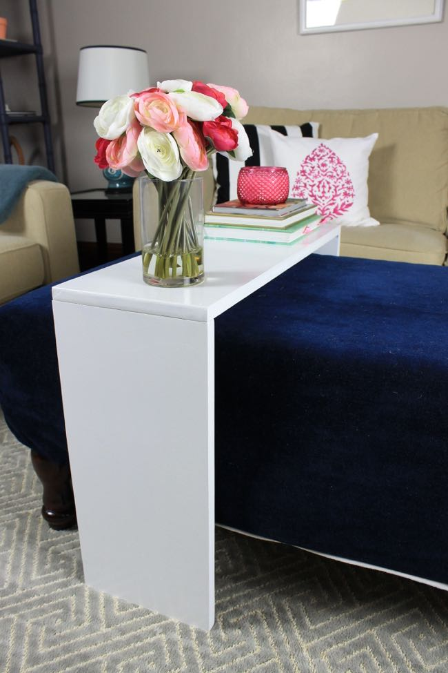 Table Over Ottoman Table Design Ideas