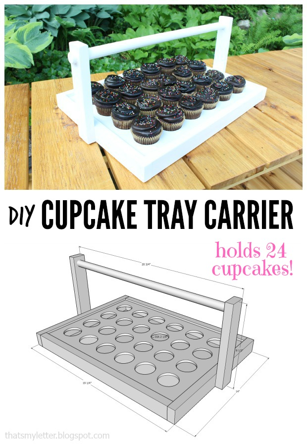 cupcake tray carrier collage