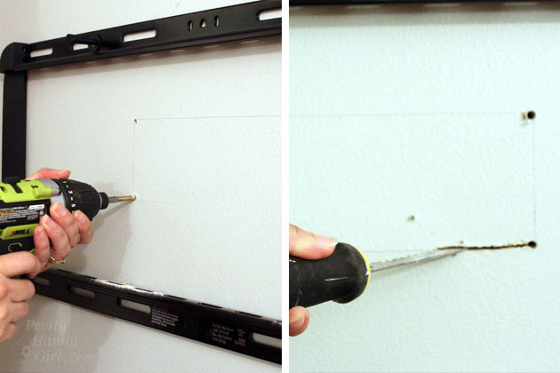 Installing a Wall Mount Flat Screen TV + Hiding Cords | PrettyHandyGirl