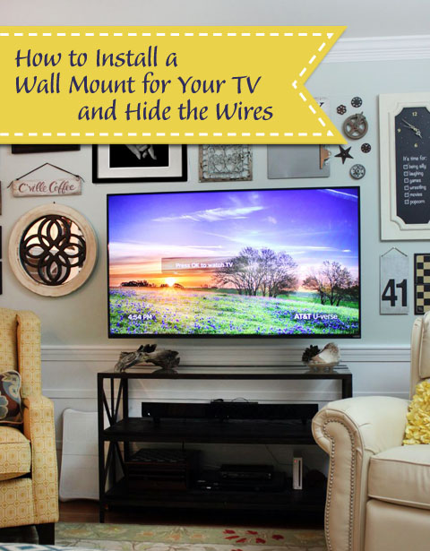 wall mounted tv with hidden wires tutorial. Black Bedroom Furniture Sets. Home Design Ideas