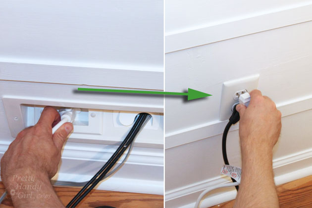 Wall mounted tv with hidden wires tutorial for How to hide electrical cords on wall