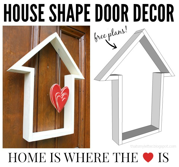 house shape door decor collage