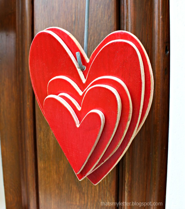 house shape door decor hearts