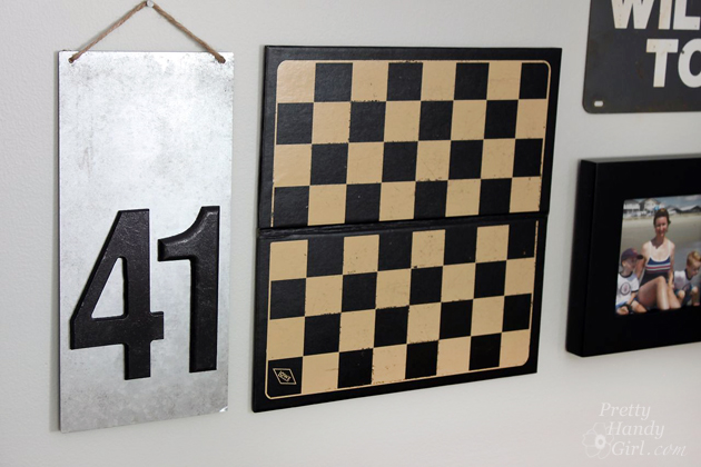 DIY Metal Number Sign
