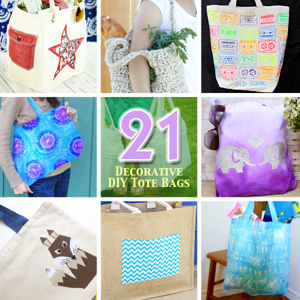 21 Ways to Make and Decorate Tote Bags | Pretty Handy Girl