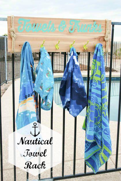 Diy Nautical Towel Rack Pretty Handy