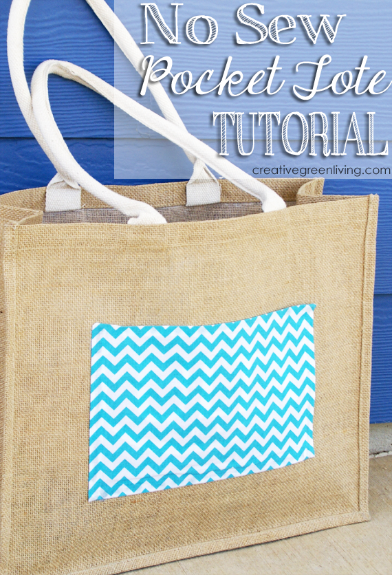 no-sew pocket tote