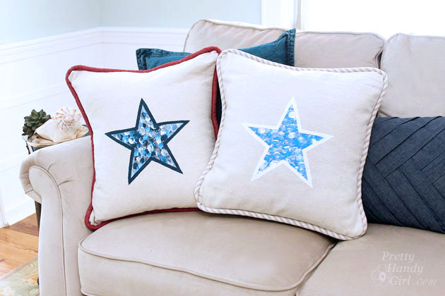 Fingerprinted Envelope Star Pillow