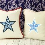 Finger-printed Envelope Star Pillows