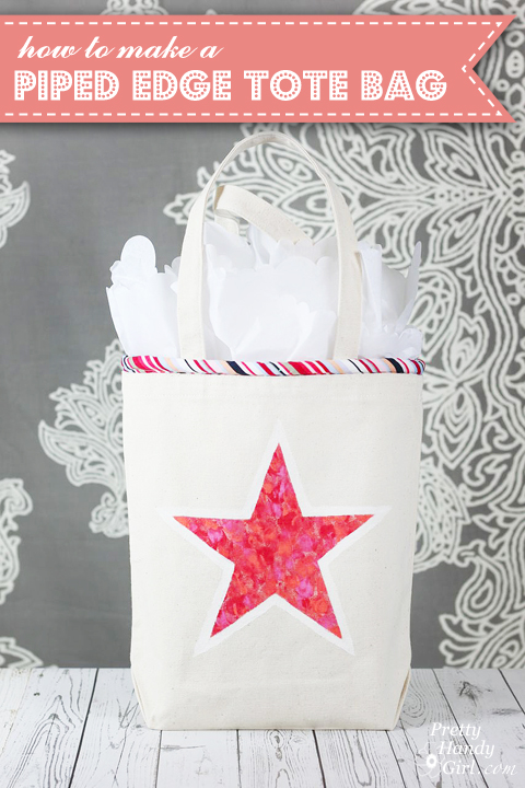Piped Tote Bag Tutorial | Pretty Handy Girl