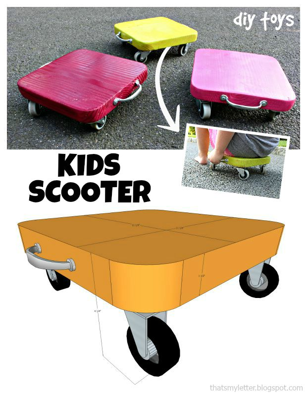 kids scooter collage