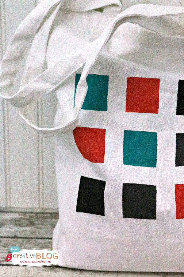 DIY Color Block Tote