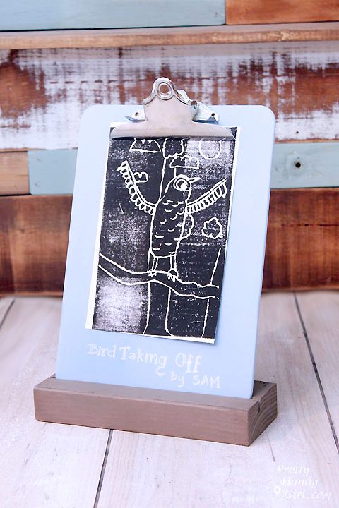 Easy Clipboard Stand | Pretty Handy Girl